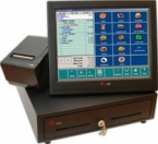 POS rental. Touchscreen fanless pc 15'' + + printer 80mm thermal paper tickets + cash drawer opening automatic electric: Equipment rental includes a touch screen 15'' ELO 1517L, Fanless PC, a receipt Epson printer 80mm thermal paper (paper not included) + electric opening cash drawer automatically.